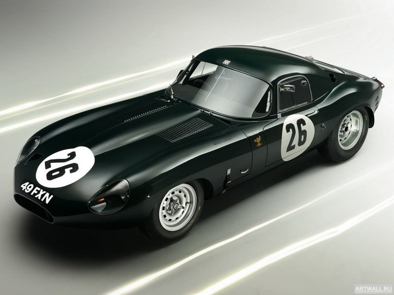"Постер ""Jaguar E-Type Lightweight Coupe (Series I) '1963"", 27x20 см, на бумаге от Artwall"