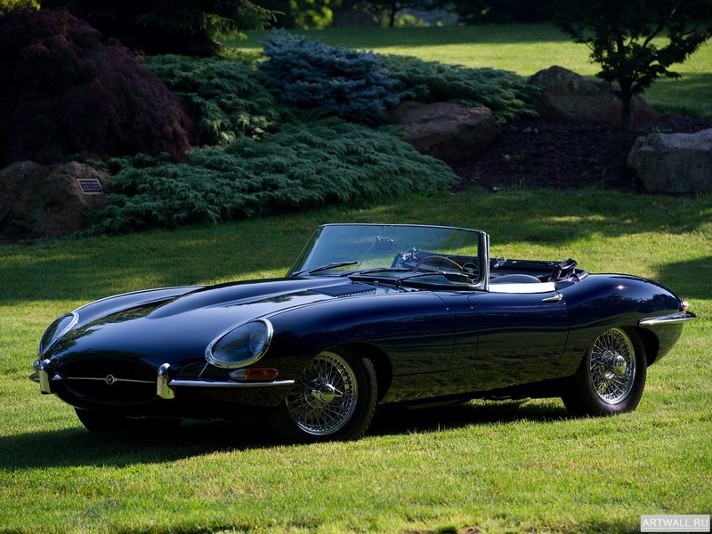 "Постер ""Jaguar E-Type Open Two Seater (Series I) '1961-67"", 27x20 см, на бумаге от Artwall"