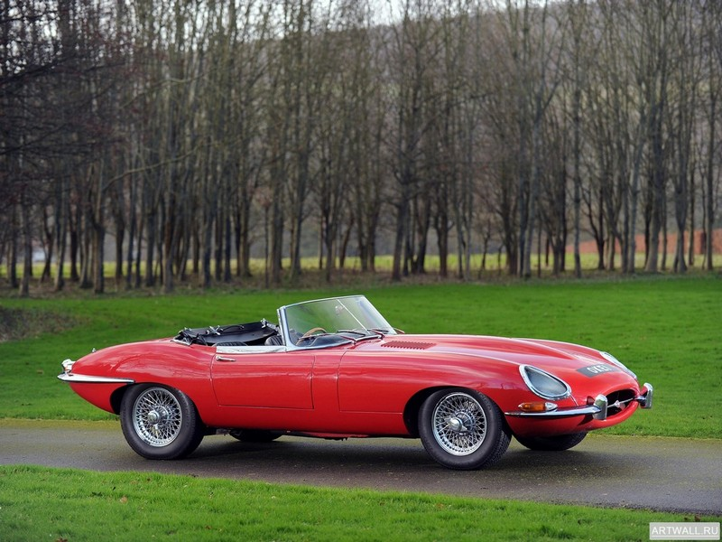 "Постер ""Jaguar E-Type Open Two Seater UK-spec (Series I) '1961-67"", 27x20 см, на бумаге от Artwall"
