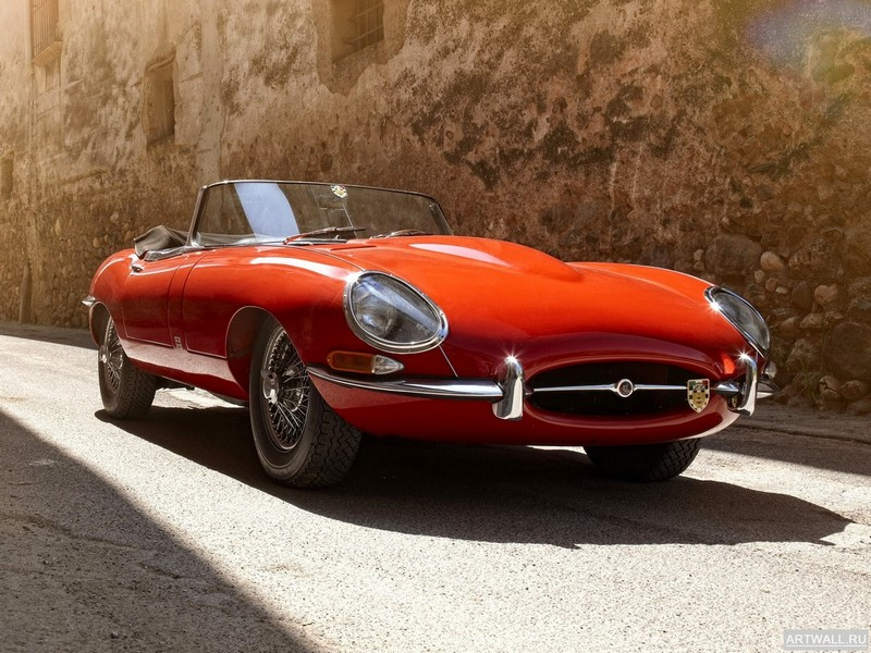 "Постер ""Jaguar E-Type Roadster (Series I) '1961-67 2"", 27x20 см, на бумаге от Artwall"