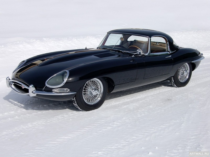 "Постер ""Jaguar E-Type Roadster (Series I) '1961-67"", 27x20 см, на бумаге от Artwall"
