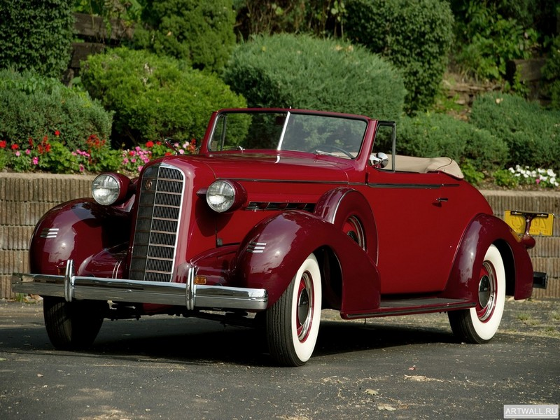 "Постер ""LaSalle Convertible Coupe (36-5067) '1936"", 27x20 см, на бумаге от Artwall"