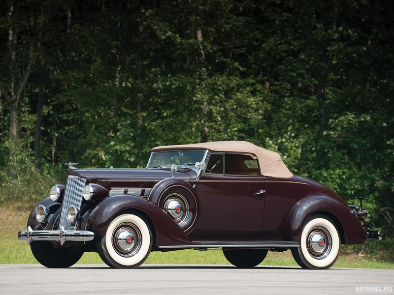 "Постер ""Packard 120 Convertible Coupe '1937"", 27x20 см, на бумаге от Artwall"