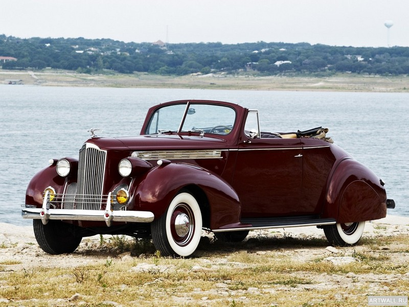 "Постер ""Packard 120 Convertible Coupe '1940"", 27x20 см, на бумаге от Artwall"