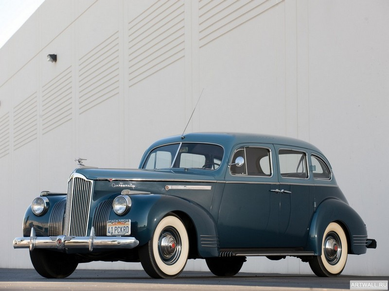 "Постер ""Packard 120 Touring Sedan '1941"", 27x20 см, на бумаге от Artwall"