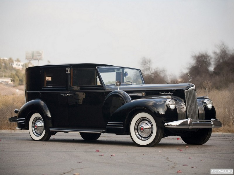 "Постер ""Packard 160 Panel Brougham by Rollston '1941"", 27x20 см, на бумаге от Artwall"