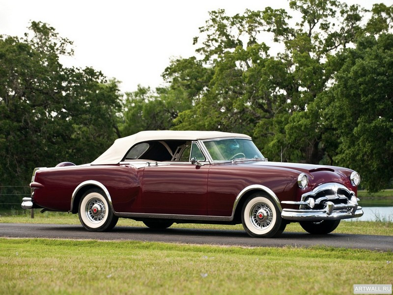 "Постер ""Packard Caribbean Convertible Coupe (2631-2678) '1953"", 27x20 см, на бумаге от Artwall"