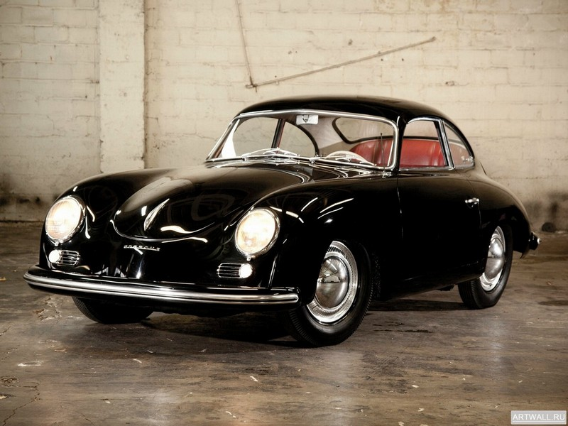 "Постер ""Porsche 356 Bent-Window Coupe by Reutter '1954"", 27x20 см, на бумаге от Artwall"