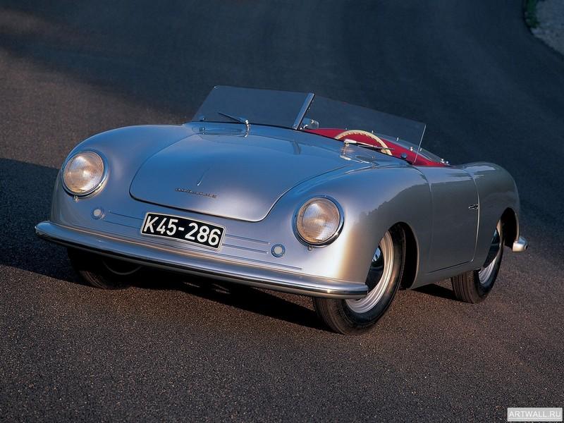 "Постер ""Porsche 356 Roadster №1 '1948"", 27x20 см, на бумаге от Artwall"