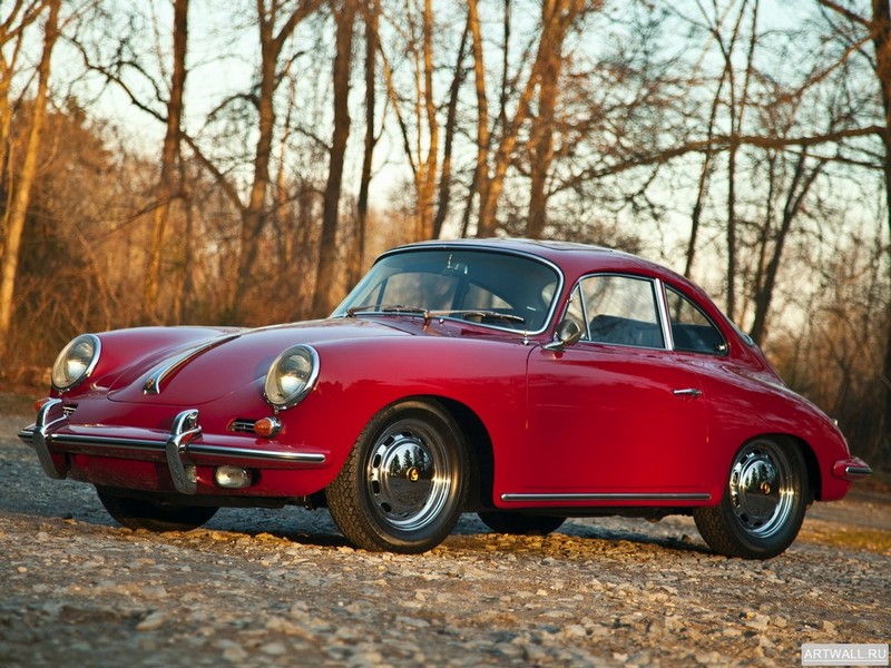 "Постер ""Porsche 356 SC Coupe '1963-65"", 27x20 см, на бумаге от Artwall"