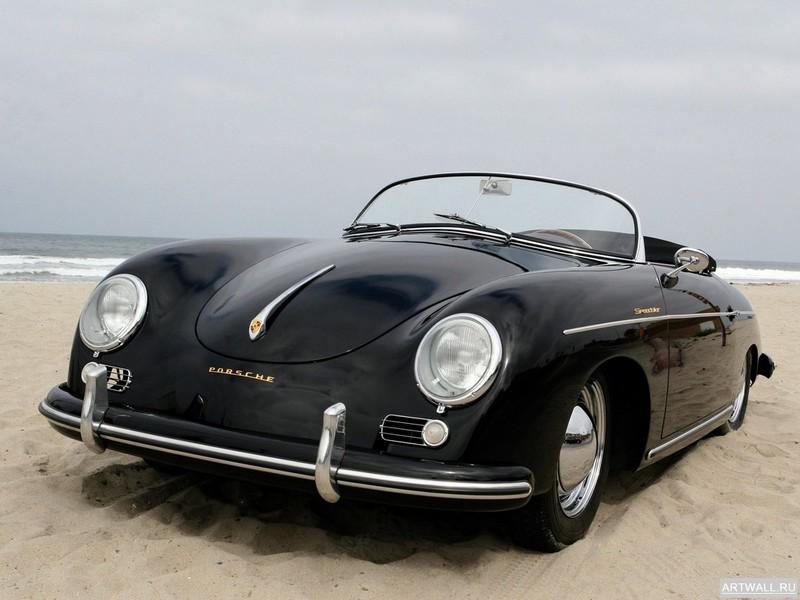 """Постер """"Porsche 356A 1500 Speedster '1955"""", 27x20 см, на бумаге от Artwall"""