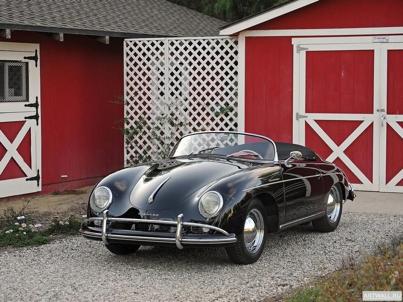 """Постер """"Porsche 356A 1600 De Luxe Speedster"""", 27x20 см, на бумаге от Artwall"""