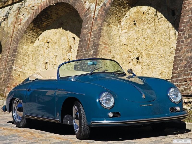 """Постер """"Porsche 356A 1600 Speedster '1956-58"""", 27x20 см, на бумаге от Artwall"""