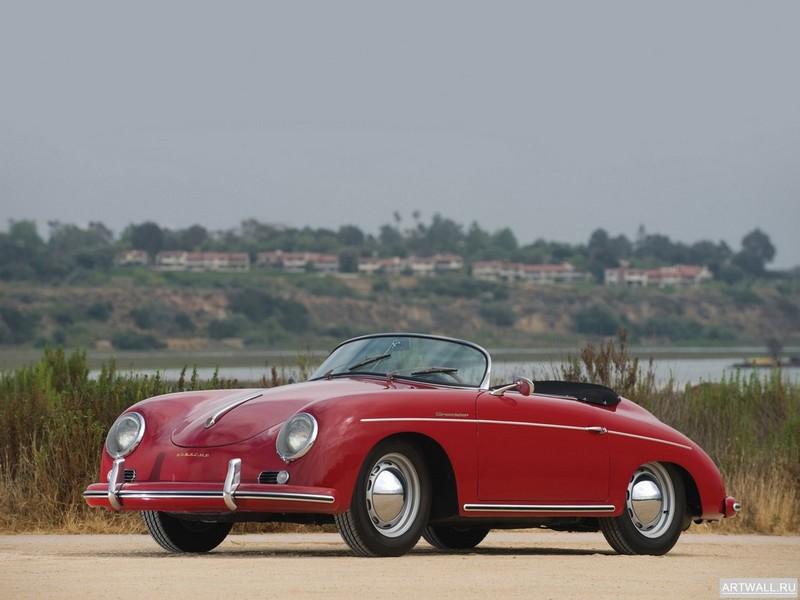 """Постер """"Porsche 356A 1600 Speedster '1958"""", 27x20 см, на бумаге от Artwall"""