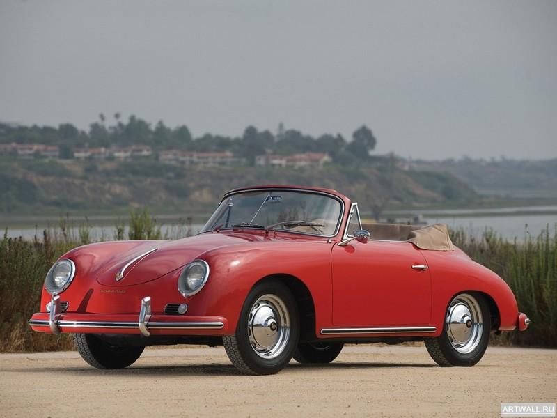 """Постер """"Porsche 356A Cabriolet '1955-59"""", 27x20 см, на бумаге от Artwall"""