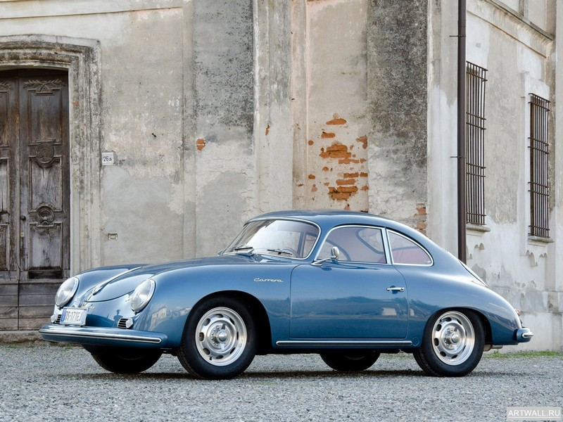"Постер ""Porsche 356A Carrera Coupe '1955-58"", 27x20 см, на бумаге от Artwall"