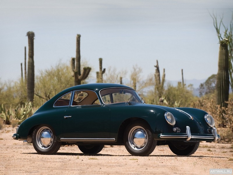 """Постер """"Porsche 356A Coupe '1955-59"""", 27x20 см, на бумаге от Artwall"""