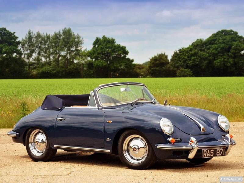 """Постер """"Porsche 356B 1600 Cabriolet"""", 27x20 см, на бумаге от Artwall"""