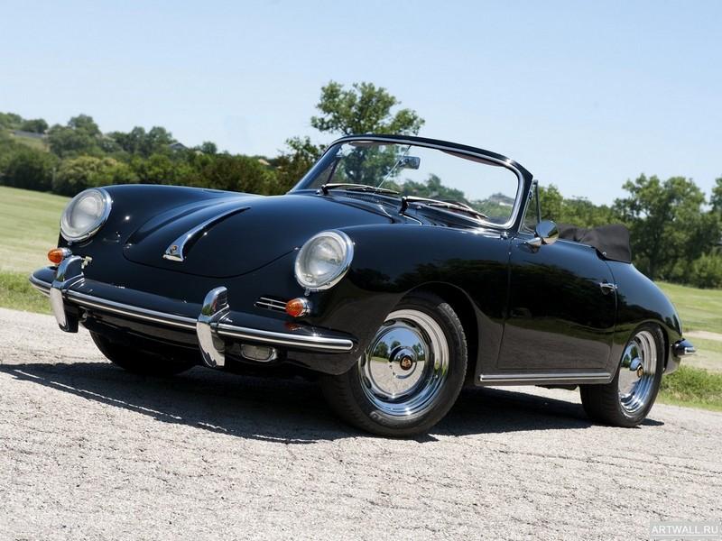 "Постер ""Porsche 356B 1600 Super 90 Roadster '1962-63"", 27x20 см, на бумаге от Artwall"