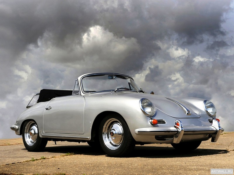 "Постер ""Porsche 356B 1600 Super Coupe '1962"", 27x20 см, на бумаге от Artwall"