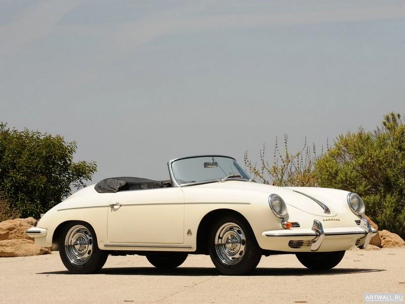 "Постер ""Porsche 356B 1600 Super Roadster '1960"", 27x20 см, на бумаге от Artwall"