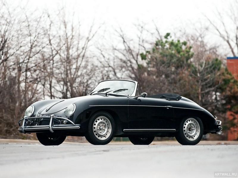 "Постер ""Porsche 356B 1600 T-2 Super Cabriolet D '1959"", 27x20 см, на бумаге от Artwall"