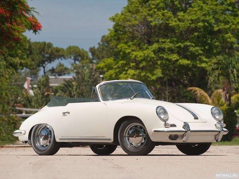 """Постер """"Porsche 356C 1600 Cabriolet '1963-65"""", 27x20 см, на бумаге от Artwall"""