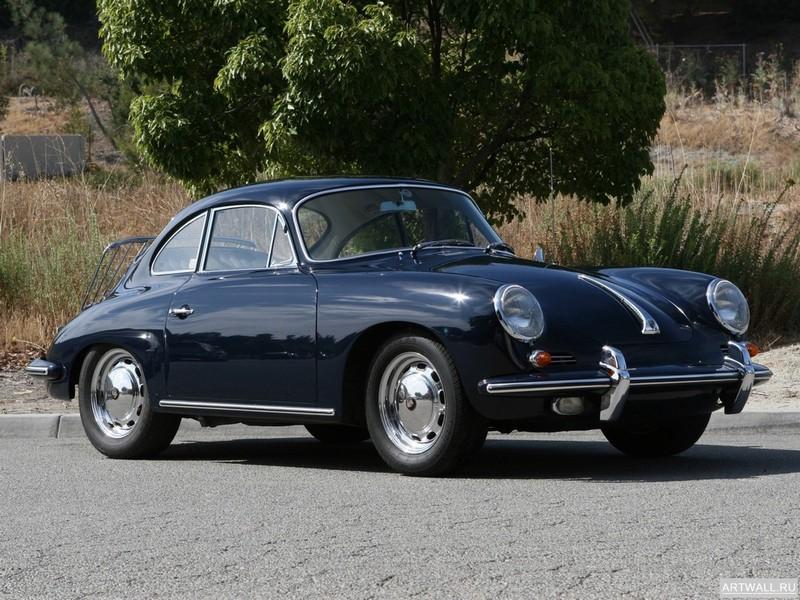 "Постер ""Porsche 356C 1600 Coupe '1963-65"", 27x20 см, на бумаге от Artwall"