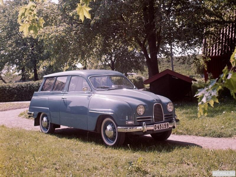 """Постер """"Saab 93 '1956-62"""", 27x20 см, на бумаге от Artwall"""