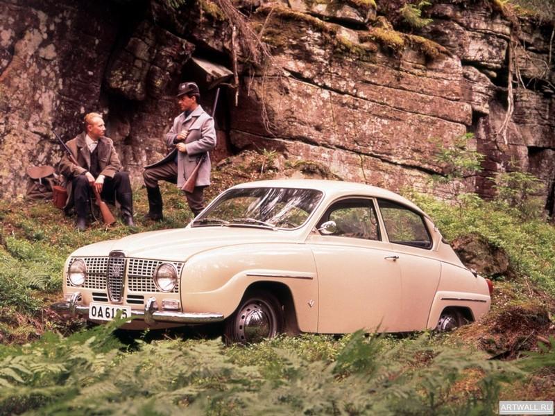 """Постер """"Saab 96 '1960-65"""", 27x20 см, на бумаге от Artwall"""