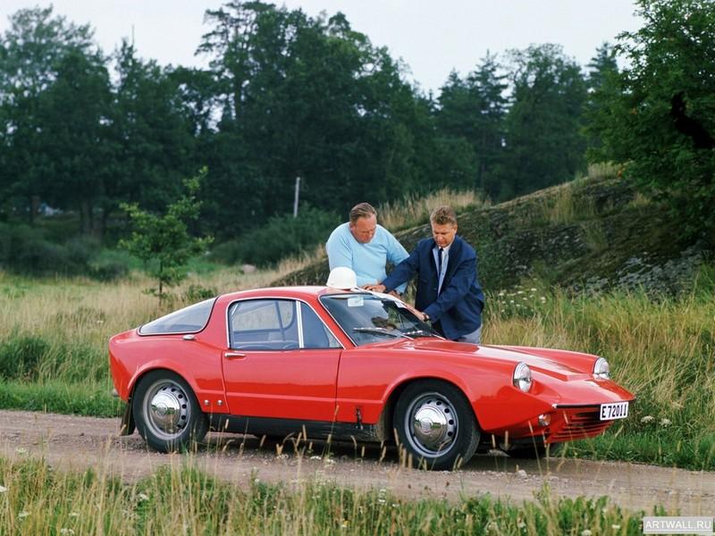 """Постер """"Saab Sonett (II) '1966-69"""", 27x20 см, на бумаге от Artwall"""