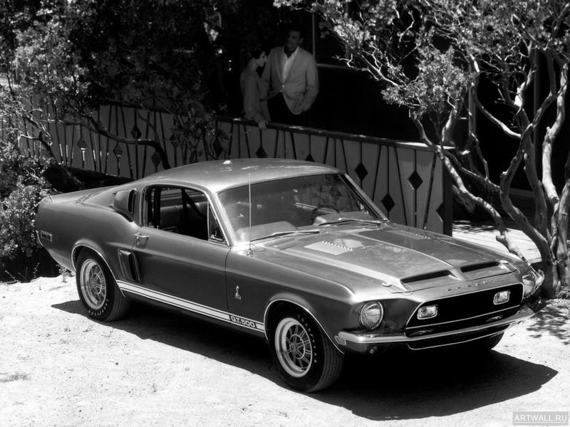 "Постер ""Shelby GT500 '1968"", 27x20 см, на бумаге от Artwall"