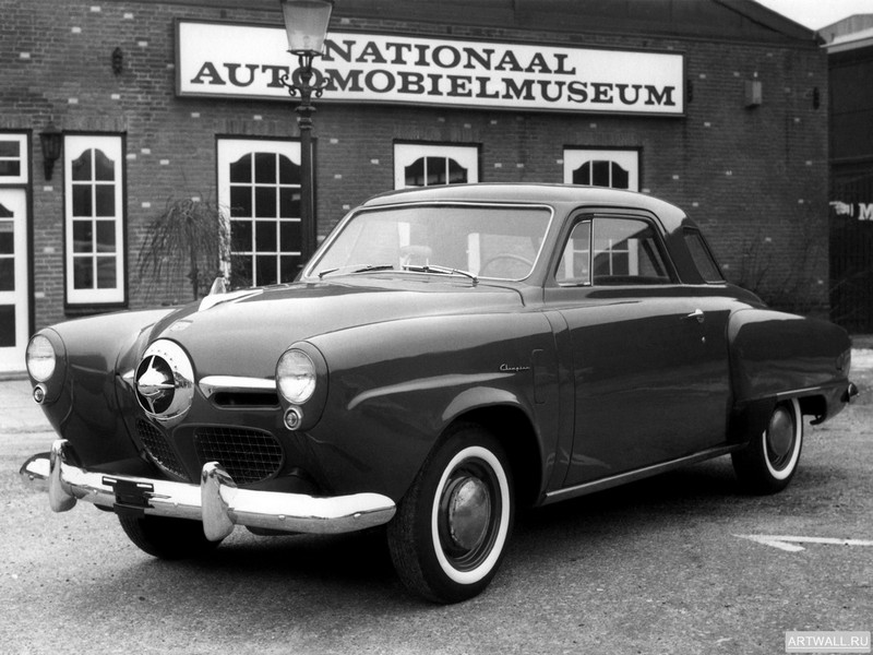 "Постер ""Studebaker Champion Starlight Coupe '1950"", 27x20 см, на бумаге от Artwall"