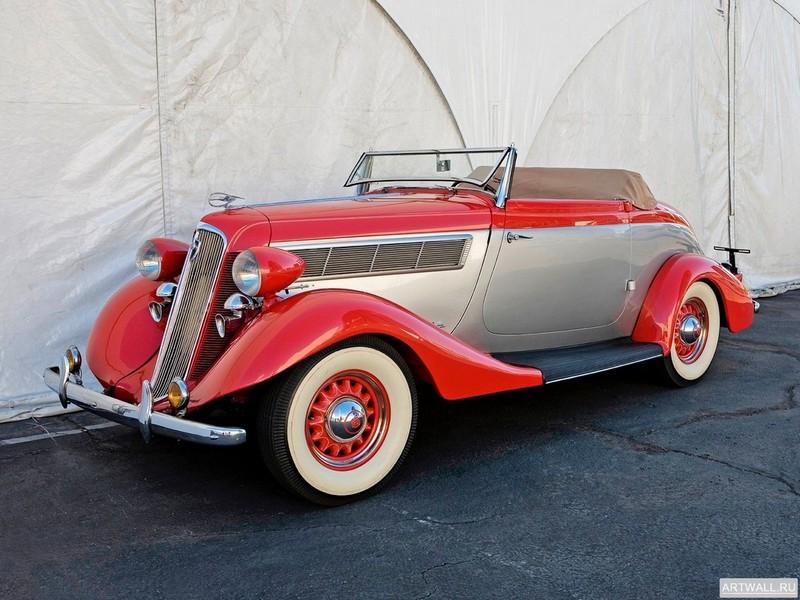 "Постер ""Studebaker Dictator Roadster '1935"", 27x20 см, на бумаге от Artwall"
