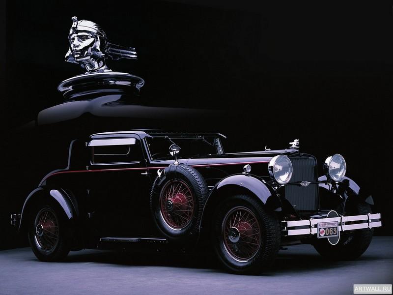 "Постер ""Stutz Model M Supercharged Lancefield Coupe '1929"", 27x20 см, на бумаге от Artwall"