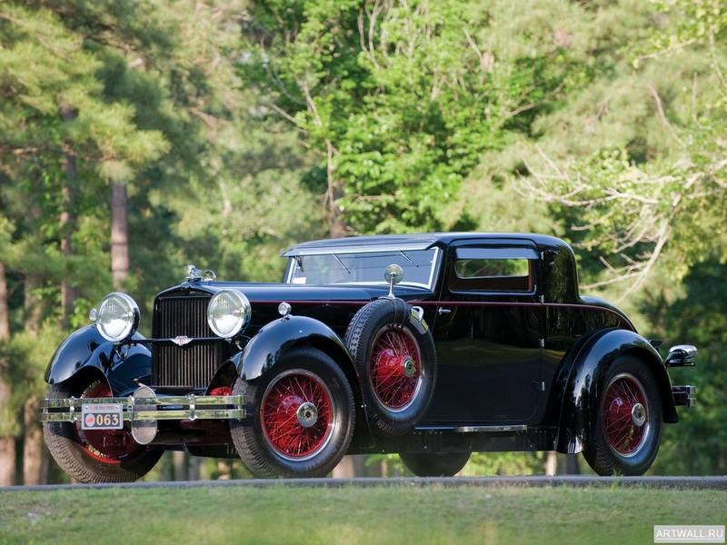 "Постер ""Stutz Model M Supercharged Lancefield Coupe '1929-30"", 27x20 см, на бумаге от Artwall"