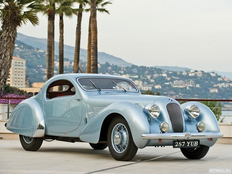 "Постер ""Talbot Lago T120 Roadster '1938"", 27x20 см, на бумаге от Artwall"