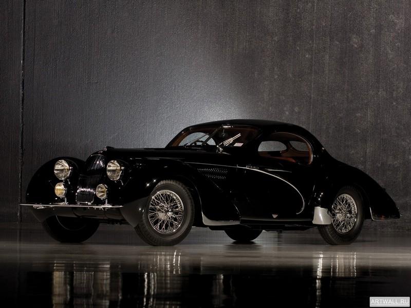"Постер ""Talbot-Lago T23 Teardrop Coupe by Figoni & Falaschi '1938"", 27x20 см, на бумаге от Artwall"