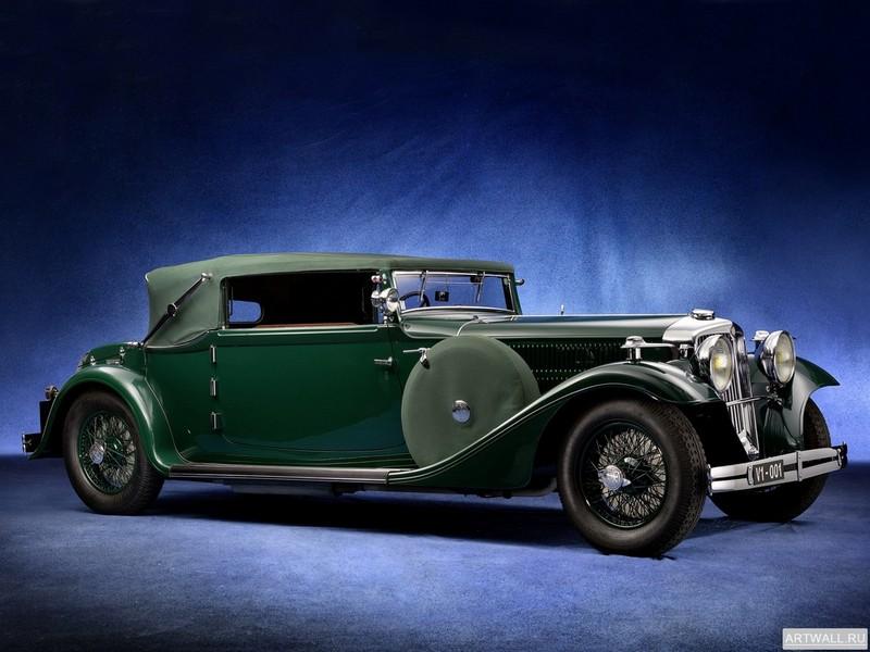 """Постер """"Tatra 80 Cabriolet '1931-35"""", 27x20 см, на бумаге от Artwall"""