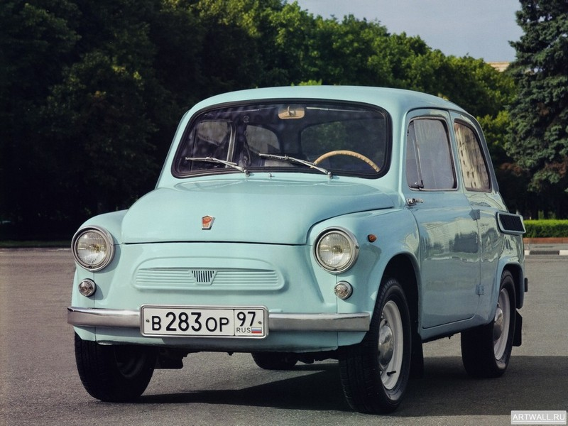"Постер ""ЗАЗ 965A Запорожец '1963-69"", 27x20 см, на бумаге от Artwall"