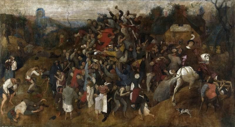"""Художники, картина """"Вино на празднике Святого Мартина"""", 37x20 см, на бумаге от Artwall"""