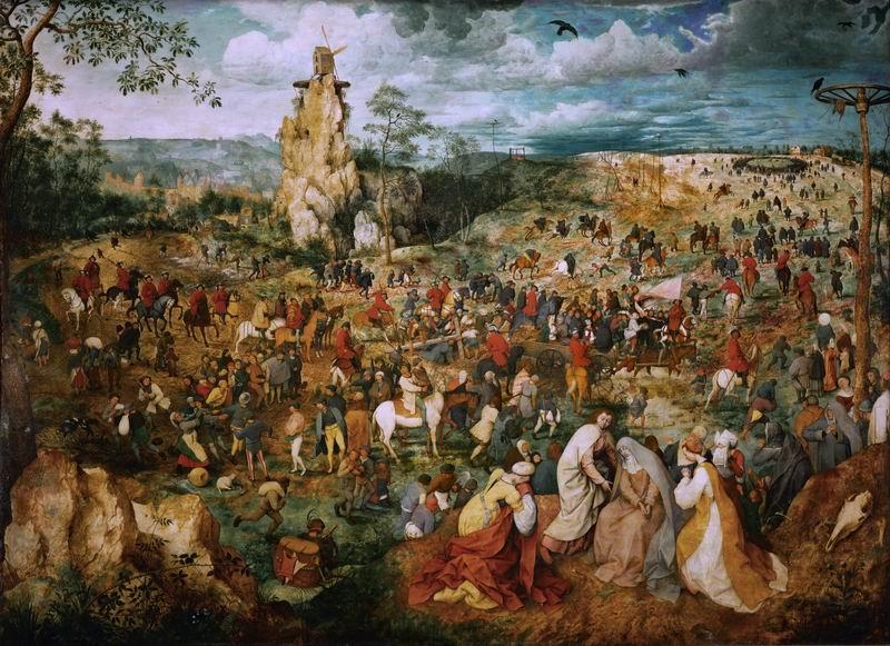 "Художники, картина ""Несение креста"", 28x20 см, на бумаге от Artwall"