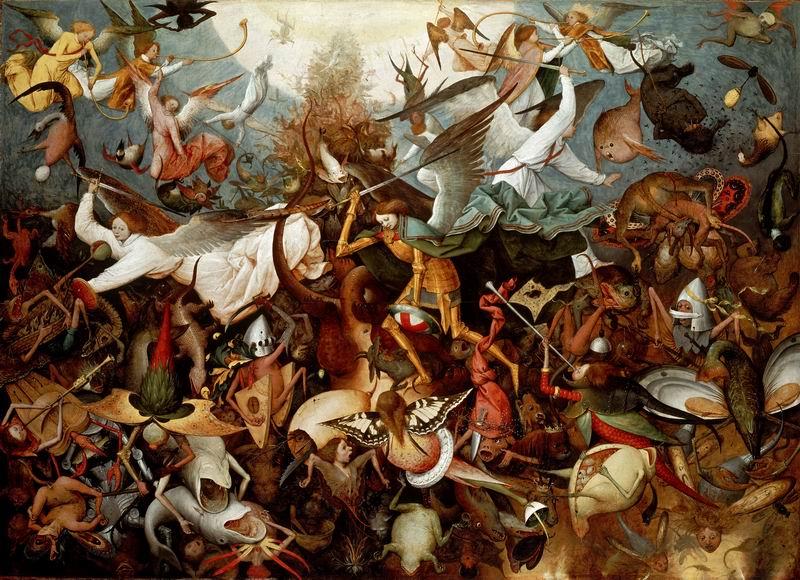 """Художники, картина """"Падение мятежных ангелов"""", 28x20 см, на бумаге от Artwall"""