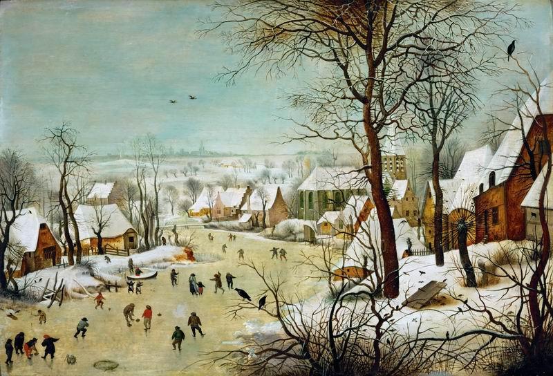 """Художники, картина """"Пейзаж с ловушкой для птиц"""", 29x20 см, на бумаге от Artwall"""