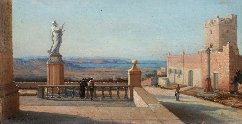 """Пейзажи """"Джироламо Джанни """"Вид на Мальту"""""""", 39x20 см, на бумаге от Artwall"""