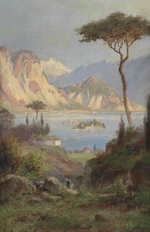 """Пейзажи """"Герман Хюбнер"""", 20x31 см, на бумаге от Artwall"""