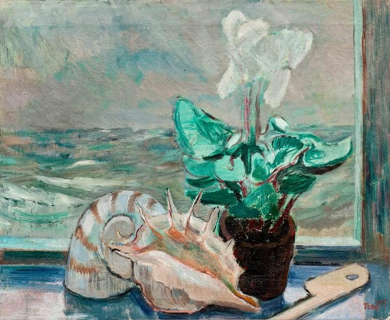 """Искусство, картина """"Янсон Тове, Натюрморт двустворчатых моллюсков"""", 24x20 см, на бумаге от Artwall"""
