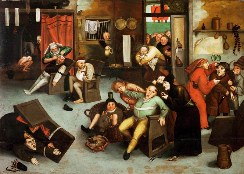 "Художники, картина ""Извлечение камня глупости"", 28x20 см, на бумаге от Artwall"
