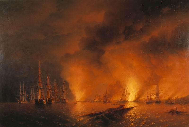 """Художники, картина """"Ночь после битвы"""", 30x20 см, на бумаге от Artwall"""