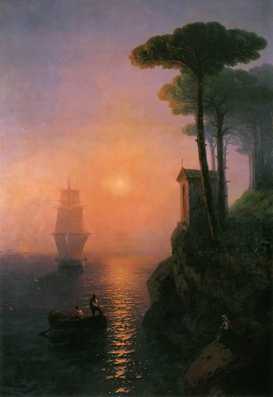 "Художники, картина ""Туманное утро"", 20x29 см, на бумаге от Artwall"